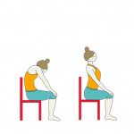 How to perform seated Cat Cow back stretch