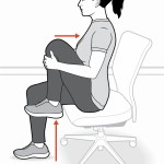 How to perform a seated knee hug stretch