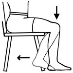 How to perform a seated calf stretch